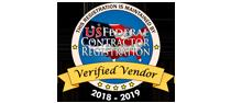 US Federal Contractor Registration System for Award Management Verified Vendor Seal